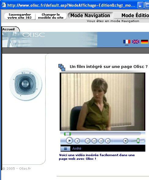 La vidéo est insérée dans la pages web en 3 étapes.